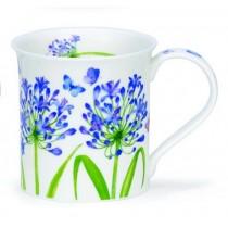 Buy the Dunoon Bute Mug Beau Jardin Agapanthus mug online at smithsofloughton.com