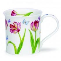 Buy the Dunoon Bute Mug Beau jardin tulips mug online at smithsofloughton.com