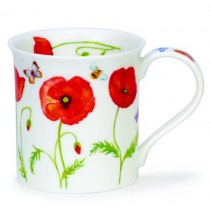 Buy the Dunoon Bute Mug red poppies online at smithsofloughton.com