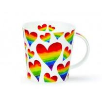 Buy the Dunoon Cairngom Mug Rainbow Hearts online at smithsofloughton.com