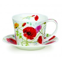 Buy the Dunoon Islay Wild Garden Poppy cup and saucer online at smithsofloughton.com