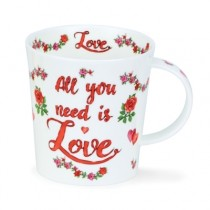 Buy the Dunoon Lomond Mug All you Need is Love online at smithsofloughton.com