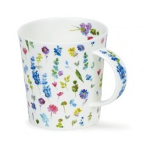 Buy the Dunoon Lomond Mug Belles Fleurs Blue 300ml online at smithsofloughton.com