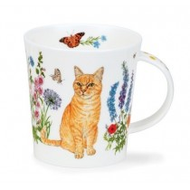 Buy the Dunoon Lomond Mug Floral Cats Ginger online at smithsofloughton.com