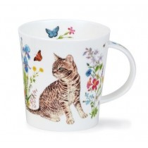 Buy the Dunoon Lomond Mug Floral Cats Tabby online at smithsofloughton.com