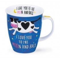 Buy the Dunoon Nevis Shaped Mug Love Up Cow online at smithsofloughton.com