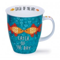Buy the Dunoon Nevis Shaped Mug Love Up Fish online at smithsofloughton.com
