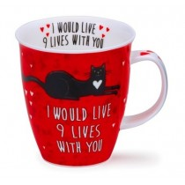 Buy the Dunoon Nevis Shaped Mug Loved Up Cat online at smithsofloughton.com