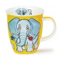 Buy the Dunoon Nevis Shaped Mug Safari Elephant online at smithsofloughton.com