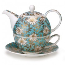 Buy the Dunoon Nuovo Teal Tea For One Teapot And Cup online at smithsofloughton.com