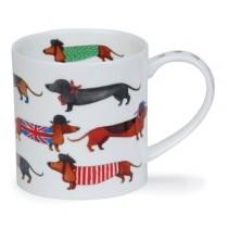 Buy the Dunoon Orkney Mug Dashing Dogs Corgi online at smithsofloughton.com