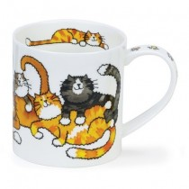 Buy the Dunoon Orkney Mug Jumbled Cats online at smithsofloughton.com