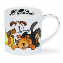 Buy the Dunoon Orkney Mug Jumbled Dogs online at smithsofloughton.com