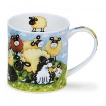 Buy the Dunoon Orkney Mug Silly Sheep Brown online at smithsofloughton.com