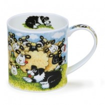 Buy the Dunoon Orkney Mug Silly Sheep Flock online at smithsofloughton.com