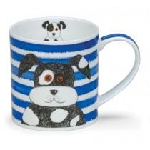 Buy the Dunoon Orkney Mug Stripy Dog Blue online at smithsofloughton.com