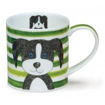Buy the Dunoon Orkney Mug Stripy Dog Green online at smithsofloughton.com