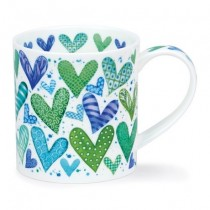 Buy the Dunoon Orkney Mug With Love Green 350ml online at smithsofloughton.com