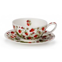 Buy the Dunoon Tea for One Cup and Saucer Dovedale Strawberry online at smithsofloughton.com