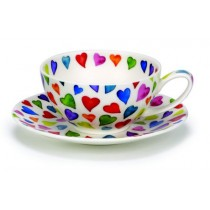 Buy the Dunoon Tea for One Cup and Saucer Warm Hearts online at smithsofloughton.com