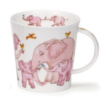 Buy the Dunoon Tickled Pink Elephant Cairngorm Shape Mug online at smithsofloughton.com