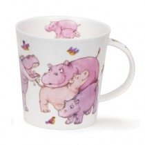 Buy the Dunoon Tickled Pink Hippo Cairngorm Shape Mug online at smithsofloughton.com