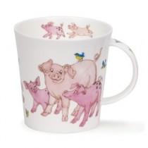 Buy the Dunoon Tickled Pink Pig Cairngorm Shape Mug online at smithsofloughton.com