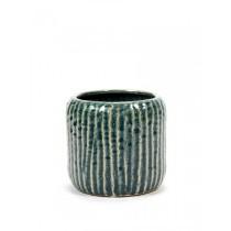 Buy the Serax Swamp Grey Rib Pot online at smithsofloughton.com