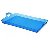 Buy the Guzzini Blue Rectangular Tray online at smithsofloughton.com