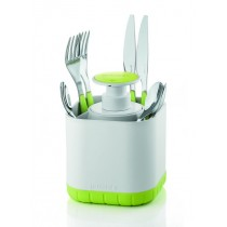 Buy the Guzzini Cutlery Drainer with Removable Soap Dispenser Green online at smithsofloughton.com