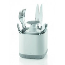 Buy the Guzzini Cutlery Drainer with Removable Soap Dispenser Grey online at smithsofloughton.com