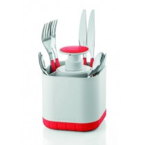 Buy the Guzzini Cutlery Drainer with Removable Soap Dispenser Red online at smithsofloughton.com