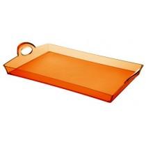 Buy the Guzzini Orange Rectangular Tray online at smithsofloughton.com