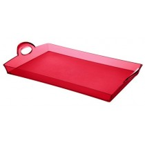 Buy the Guzzini Red Rectangular Tray online at smithsofloughton.com