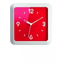 Buy the Guzzini Times Square Wall Clock Red online at smithsofloughton.com