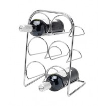 Buy the Hahn Pisa 6 Bottle Wine Rack Chrome online at smithsofloughton.com