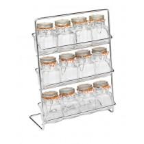 Buy the Hahn Pisa Spice Rack 12 Kilner Jar Chrome online at smithsofloughton.com