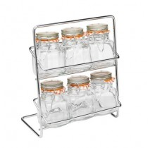 Buy the Hahn Pisa Spice Rack 6 Kilner Jar Chrome online at smithsofloughton.com