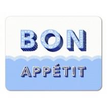 Buy the Jamida Asta Barrington Bon Appétit Blue Tablemat online at smithsofloughton.com