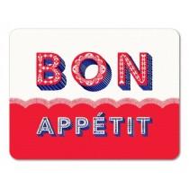 Buy the Jamida Asta Barrington Bon Appétit Red Tablemat online at smithsofloughton.com