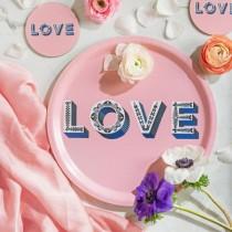Buy the Jamida Asta Barrington Love Pink Tray online at smithsofloughton.com
