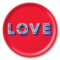 Buy the Jamida Asta Barrington Love Tray Red online at smithsofloughton.com