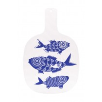 Buy the Jamida Asta Barrington Shoal of Fish White Chopping Board online at smithsofloughton.com