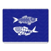 Buy the Jamida Asta Barrington Shoal of Fish Blue Tablemat online at smithsofloughton.com