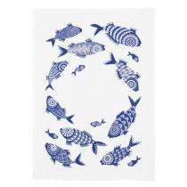 Buy the Jamida Asta Barrington Shoal of Fish White Tea towel 70x50cm online at smithsofloughton.com