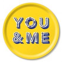 Buy the Jamida Asta Barrington You and Me Round Drinks Tray online at smithsofloughton.com
