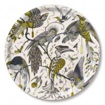 Buy the Jamida Emma J Shipley Audubon Gold Round Drinks Tray 39cm online at smithsofloughton.com