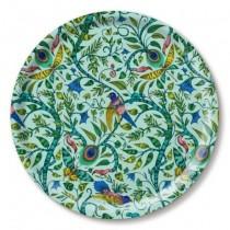 Buy the Jamida Emma J Shipley Turquoise Rousseau Round Drinks Tray online at smithsofloughton.com