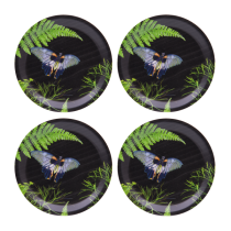 Buy the Jamida Michael Angove Black Dill 4pc Coasters online at smithsofloughton.com