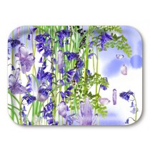Buy the Jamida Michael Angove Bluebell Amethyst Tray 43x33cm online at smithsofloughton.com